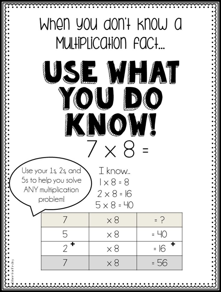 Multiplication Fact Strategy for Upper Grades {Freebies} - Teaching to Inspire with Jennifer Findley