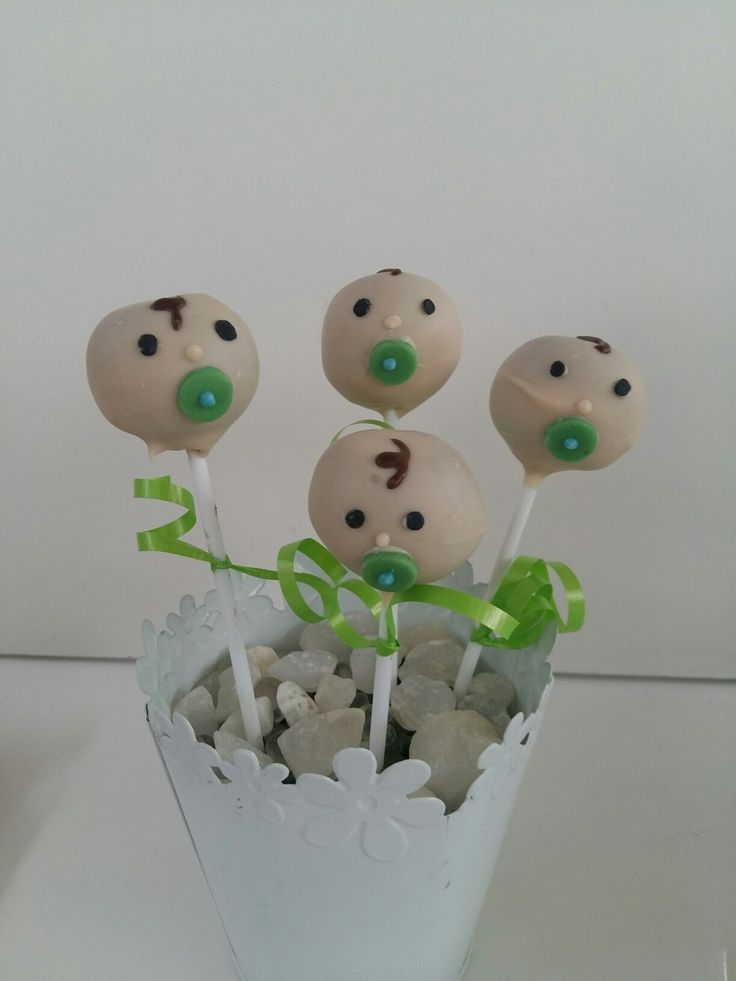 Baby shower popcakes