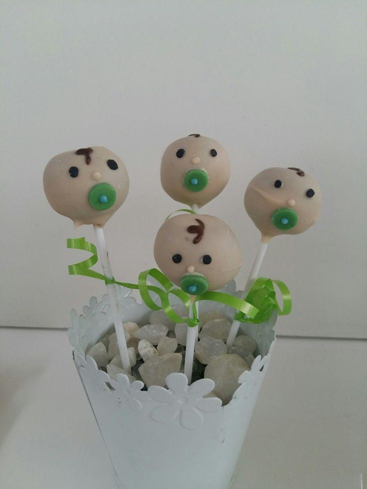 Baby shower popcakes