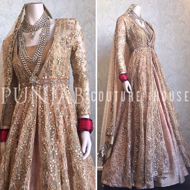 """A majestic ensemble fit for a Queen....."""" Rich textiles, a palette of gold, and a splash of glitter.✨ Versatility is key with this exquisite couture piece- Pair this lovely jacket with a lehnga or trousers. Make it your own! ________________________________________________________For more information contact us @ punjabcouturehouse@gmail.com Or dm us and we will get back to you promptly! #indianbride #indianwedding #lehnga #lehenga #asianbride #pakistanibride #pakistanistreetstyle #p..."""