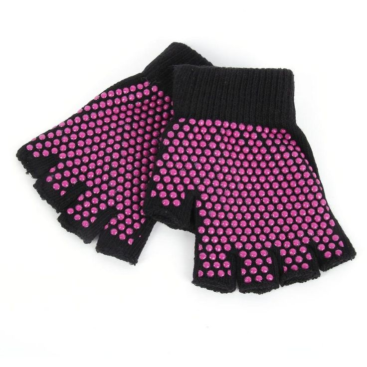 NEW Anti Slip Fingerless Grip Yoga Gloves