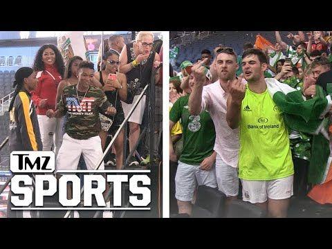 Conor McGregor's Irish Fans Cuss At Floyd Mayweather's Kids | TMZ Sports