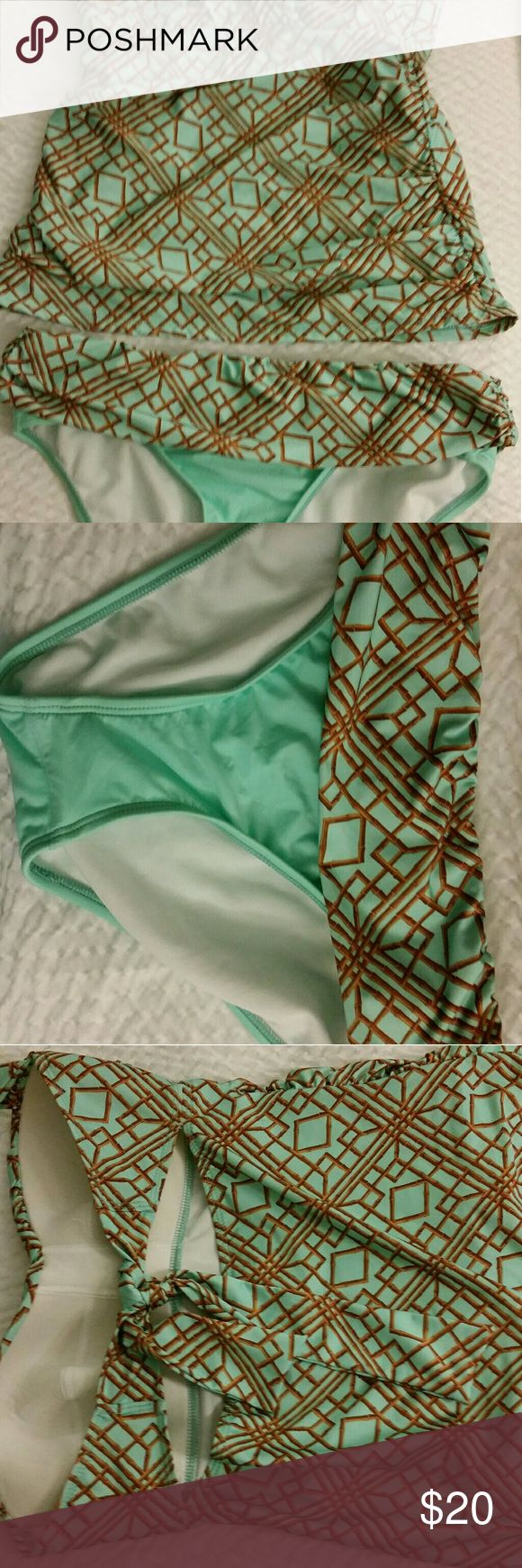 Tankini Mint/gold tankini new without tags, from a smoke free home ANTONIO MELANI Swim Bikinis