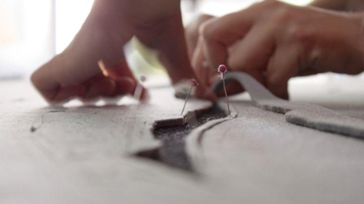 """Making of """"Some considerations on the Red Helleborine Orchid"""" - monica bengoa. // Video de la producción de la obra 'Algunas consideraciones acerca de la Orquídea Sello de Nuestra Señora' (2011). #video #production #felt #handmade #hand-made"""