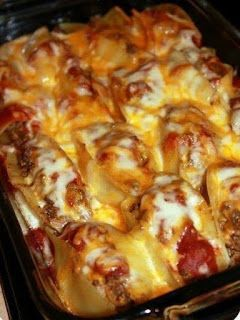 TACO STUFFED SHELLS ~ cookingpad