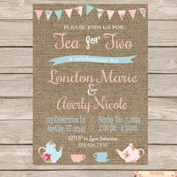 Use this invitation for a joint birthday party, a baby shower, or for a single birthday for a little girl who is turning two!! **Please read