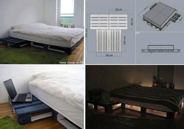 Diy Pallet Platform Bed Pallet Furniture Pinterest
