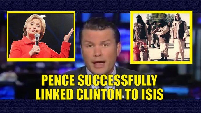 """Hillary Clinton is largely responsible for the """"birth"""" of ISIS. It was her disastrous foreign policy agenda as secretary of state that led to not only ISIS but the destabilizing in the Middle East and other parts of the world. Clinton is arguably the worst secretary of state in our nation's history. During last nights #VPDebate, Mike Pence successful explained who created ISIS and also whose policies would further advance the terrorist group. Hillary Clinton. Watch the video: .@PeteHegseth…"""