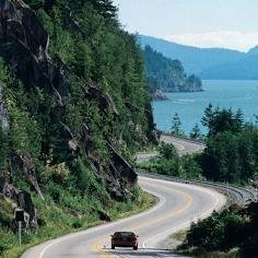 "I took the ""Sea to Sky Highway"" North on the west coast of British Columbia"