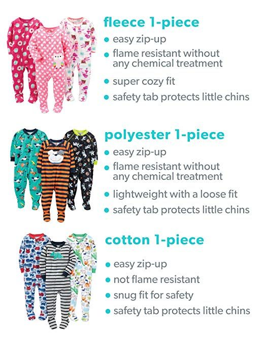 e9a83da5484b3 Amazon.com: Simple Joys by Carter's Baby and Toddler Gender Neutral 2-Pack  Holiday Loose Fit Flame Resistant Fleece Footed Pajamas: Clothing