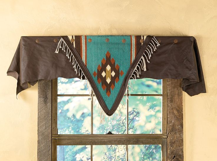 Lodge Decor-Rustic Cabin Decor-Southwestern Home Decor-Log Cabin Decor-Antler Lighting - Azul Diamond Valance
