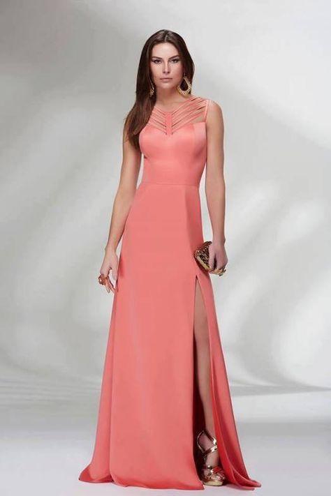 27 best vestidos de madrinha images on Pinterest | Long prom dresses ...