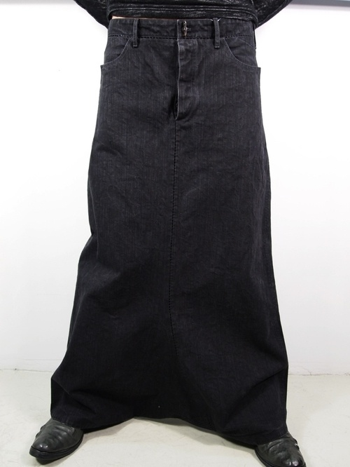 "Carol Christian Poell Dead End 2010, Chain seam ""long apron jeans"""