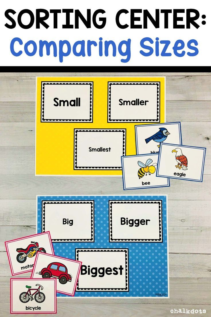 Comparing Sizes Sorting Activity Shape Activities Preschool Sorting Activities Preschool Math Lessons [ 1104 x 736 Pixel ]