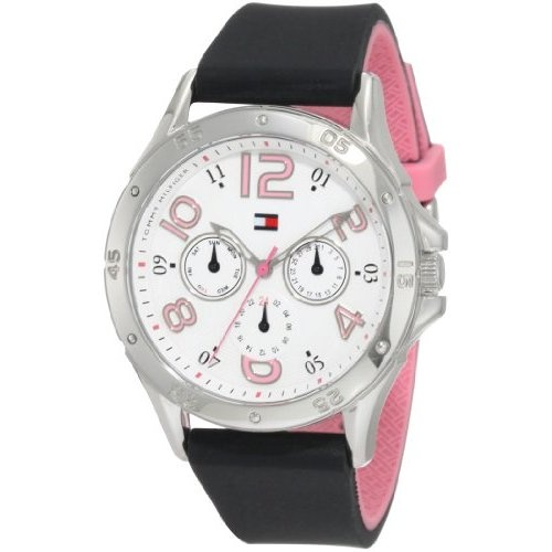 Tommy Hilfiger Women's 1781175 Sport Stainless Steel and black Silicon Sport Watch: Watches: Amazon.com