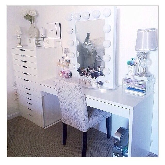 Ikea makeup storage and vanity girl mirror  chair may be from Ross or  Marshalls83 best Makeup Room images on Pinterest   Makeup rooms  Makeup and  . Vanity Girl Makeup Desk. Home Design Ideas