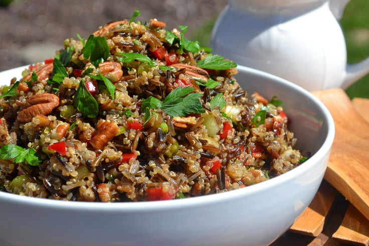 Salade de riz sauvages et quinoa