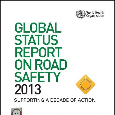 The Global status report on road safety 2013 shows that 1.24 million people died in 2010 on the world's roads. However, only 28 countries, covering 7% of the world's population, have comprehensive road safety laws on all five key risk factors: drinking and driving, speeding, motorcycle helmets, seat-belts, and child restraints.    Find out about work being done to prevent this in this new World Health Organization (WHO) report launched today in Geneva: http://j.mp/16uvkdB