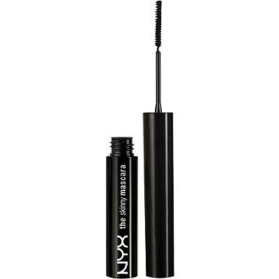 Nyx Cosmetics: The Skinny Mascara. Great for bottom lashes, and does not clump!