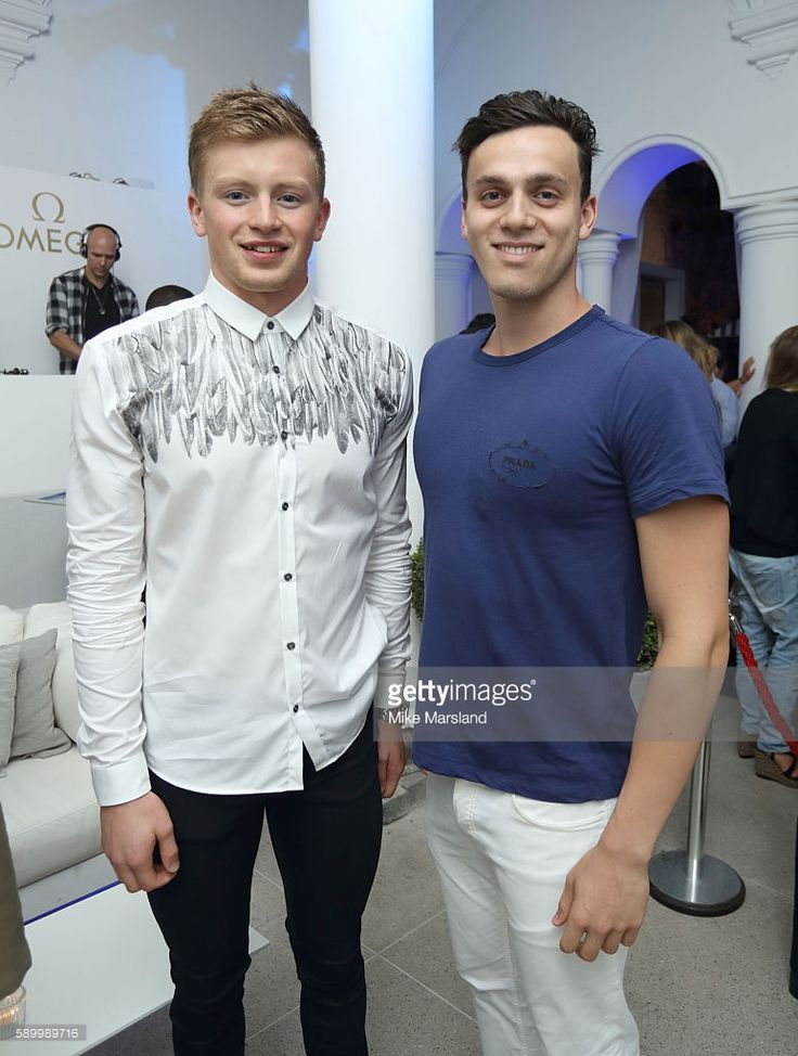 Adam Peaty and James Guy pictured at Swimming Legends night at OMEGA House Rio…