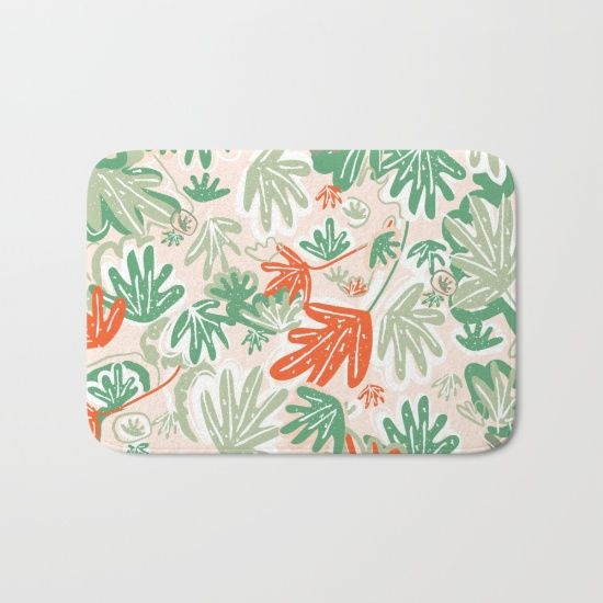 Tropical Abstract Pattern Bath Mat by Chotnelle. Worldwide shipping available at Society6.com. Just one of millions of high quality products available.