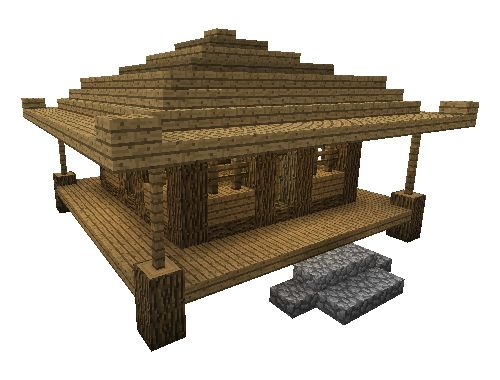 Minecraft building tutorial: small Asian-style farming house