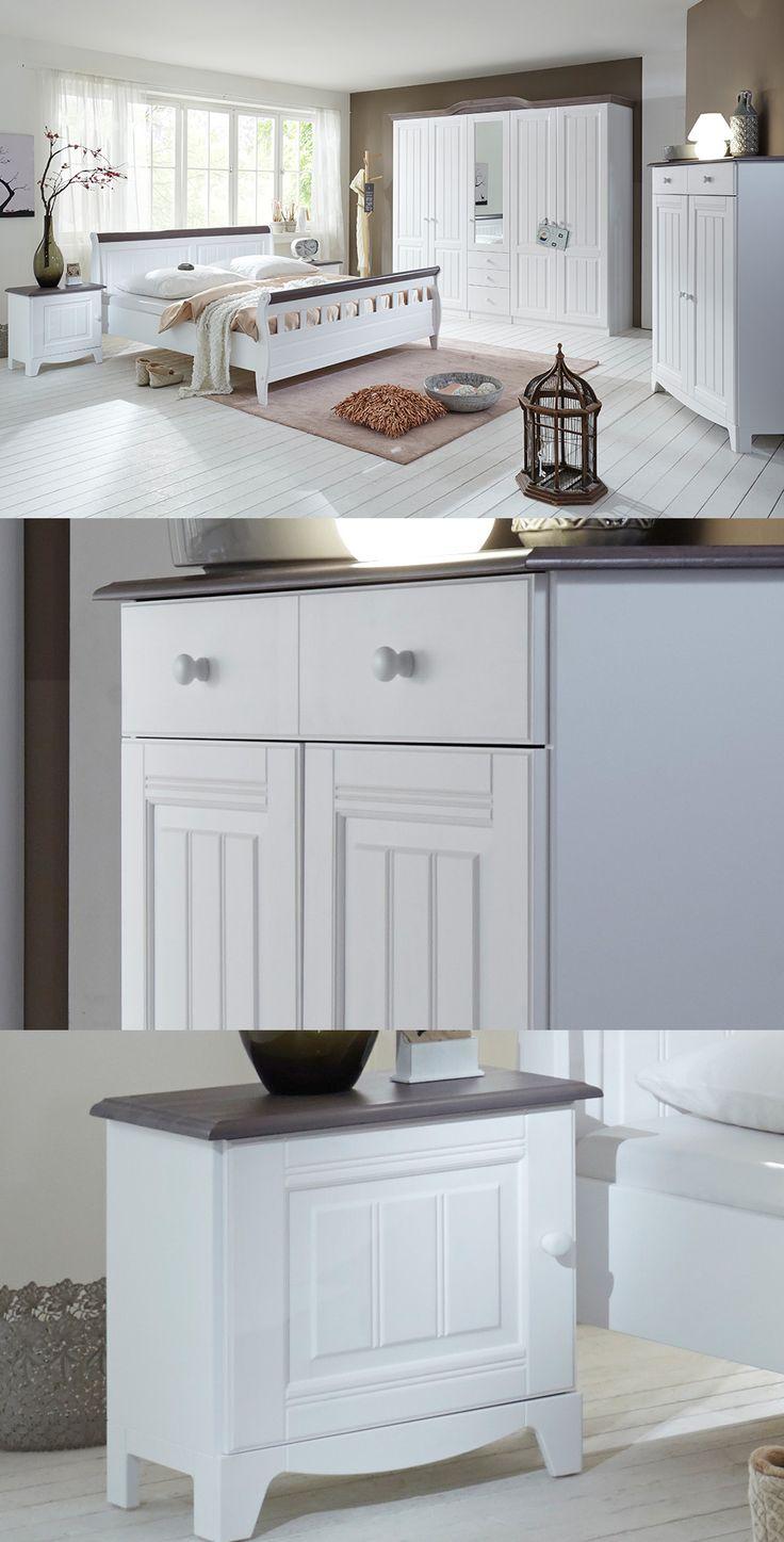 Elegante schlafzimmereinrichtung paris die stilvollen möbel im landhausstil laden zum entspannen und ausschlafen ein