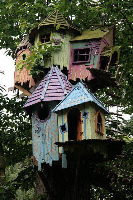 I see Fairies loving these tree houses!