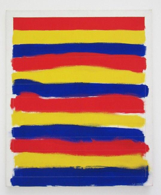 « À la main droite, en regardant en haut », 1984, peinture vinylique sur toile, 120 x 100 cm Filip Francis