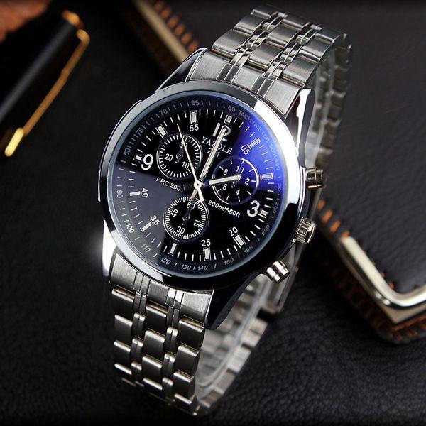 YAZOLE Full Steel White Black Blue Ray Dial 30m Waterproof Luminous Hands Business Dress Sport Wrist watch Watches for Men Male | Price: US $5.80 | http://www.bestali.com/goto/32405872722/10