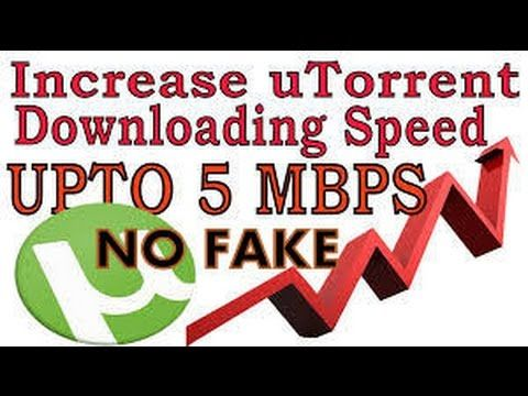 Download big torrent at 5 mb/s without any software