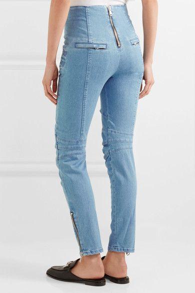 Pierre Balmain - High-rise Skinny Jeans - Light blue