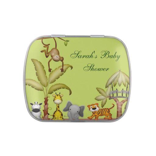 Jungle Animal Safari Celebration Baby Shower Candy Tins