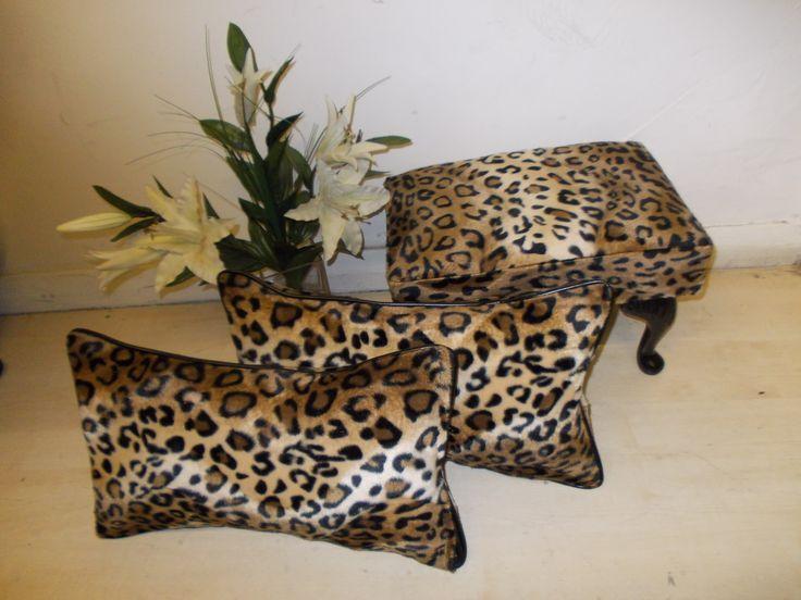 Animal Print Cushions #bedroom #bed #cushions #animalprint #animalprintfurniture