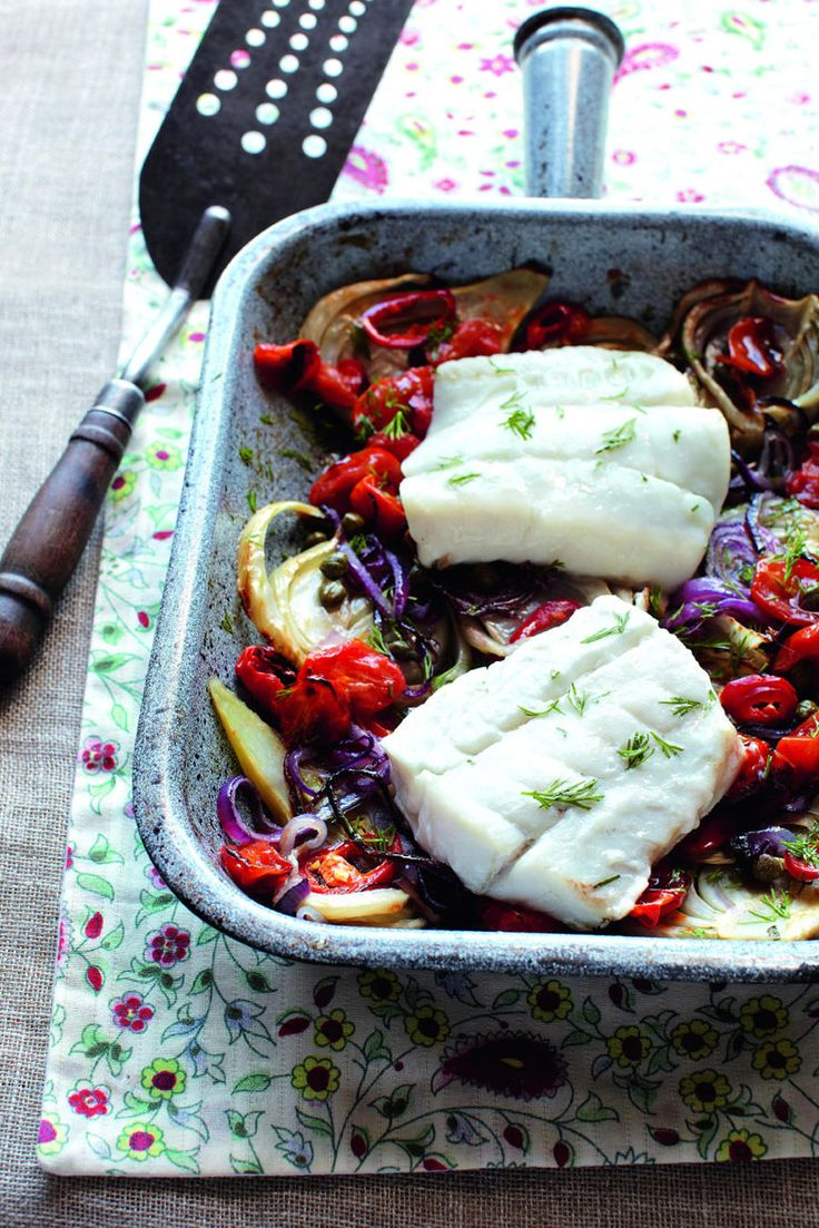 This simple, super-healthy cod recipe is overflowing with rustic Italian flavours.