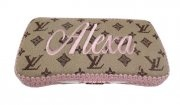 A Personalized-Faux Designer Wipe Case - Tan, Brown or Black