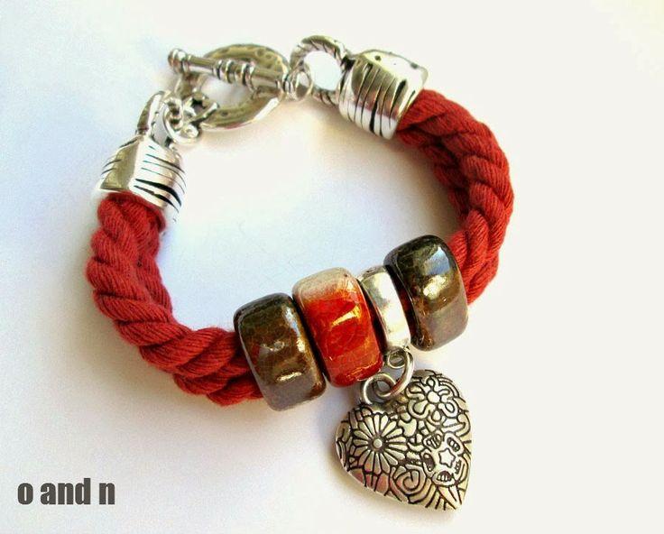 terracotta red cord bracelet