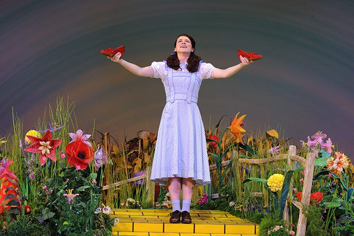 Credit: Jonathan Hordle/Rex Features That's shoe business ... Based on the much-loved 1939 movie, this latest venture from Andrew Lloyd Webber comes with a Dorothy who is also a reality TV star – Danielle Hope, who won the part in the BBC's Over the Rainbow
