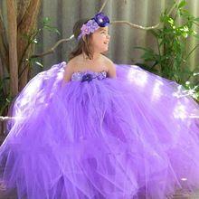 2 цветов мечта фиолетовый принцесса девушки платье, Летние каникулы ну вечеринку платье костюм на день рождения детские волосы группы L007(China (Mainland))