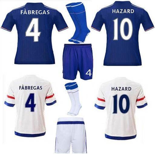 Chelsea Soccer Jerseys 2016 Full Sets Football Jerseys +Short +Socks Hazard Diego Costa Camisetas De Futbol Home And Away Soccer Uniforms From Mayajersey, $19.9 | Dhgate.Com