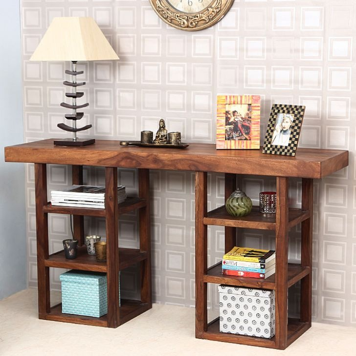 New Study Table with Bookshelves