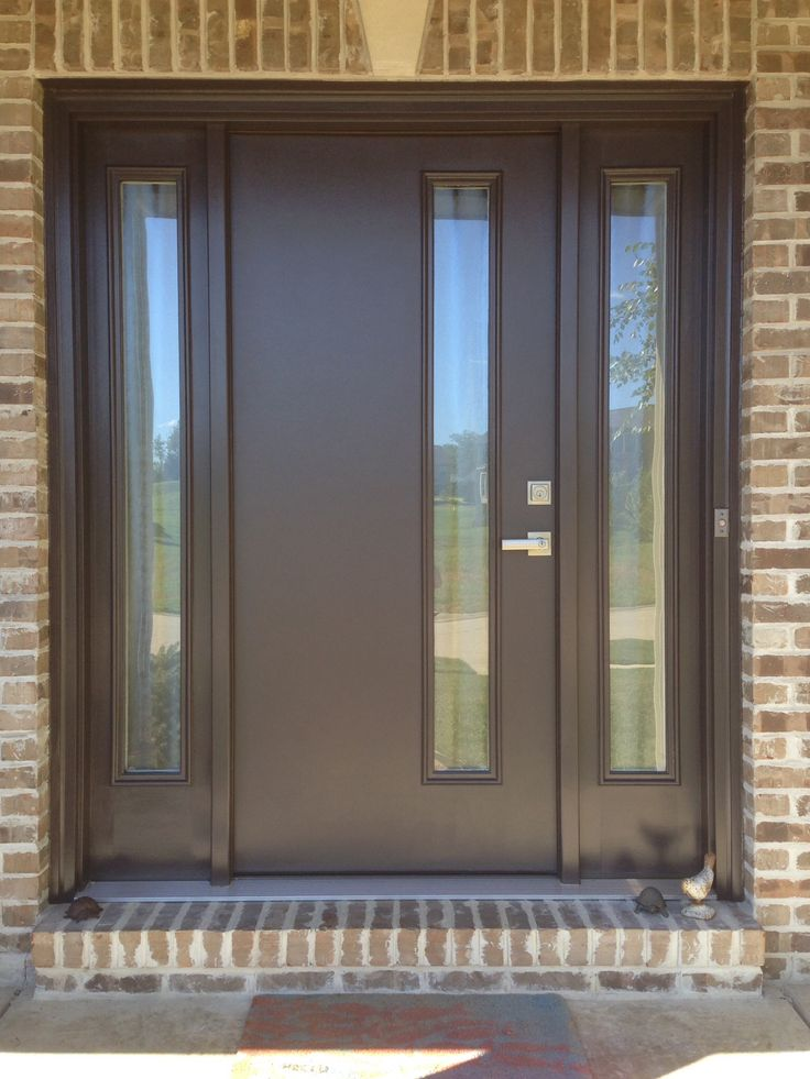 Front door therma tru fiberglass door model pulse with for Glass exterior doors for home
