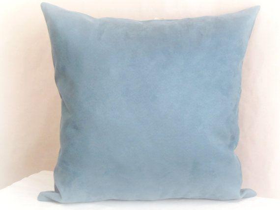 Blue pillow sham  20x20 pillow cover  Custom throw by SABDECO