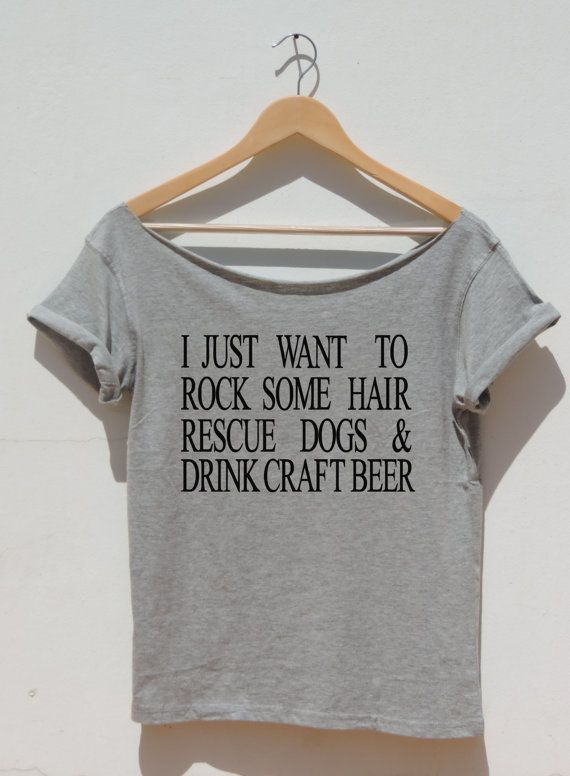 Rock Some Hair Rescue Dogs Drink Craft Beer off the by FavoriTee