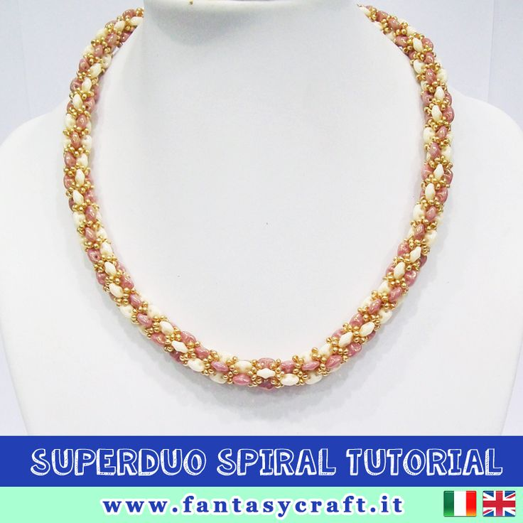 beadwoven spiral tutorial with superduos, step by step picture and beading instruction - TRANSLATION AVALIABLE! #fantasycraft