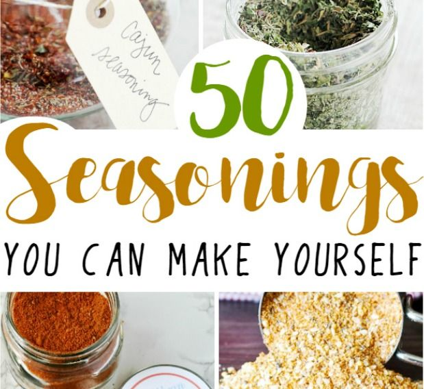 50 seasonings and spice rubs you can make yourself, and save money!