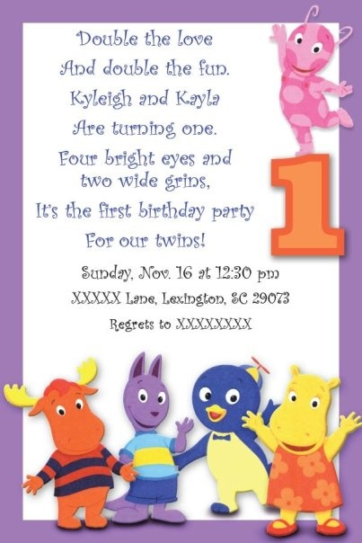 Backyardigans 1st Birthday! I love this too! Except Austin is more... Pinky than that purple.
