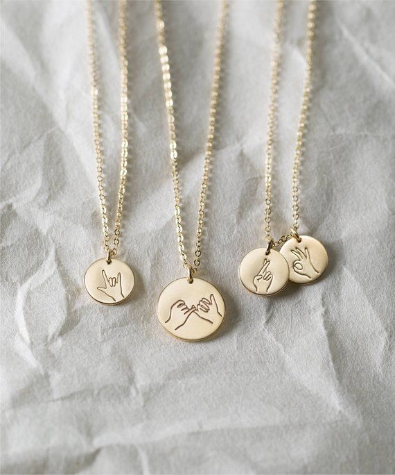 Sister Gifts, Best Friend Necklaces • Hand Gestures Necklace • Cool Gift Ideas for Daughters • Fun Gifts for Awesome Ladies • LN209, LN213