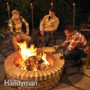 Building a Fire Pit - we could totally do this - we've got plenty of yard space