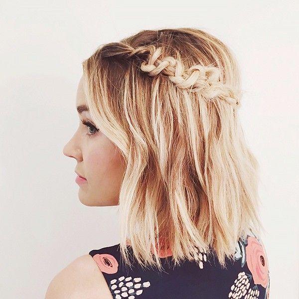 Short Hairstyles: Macramé Braid.